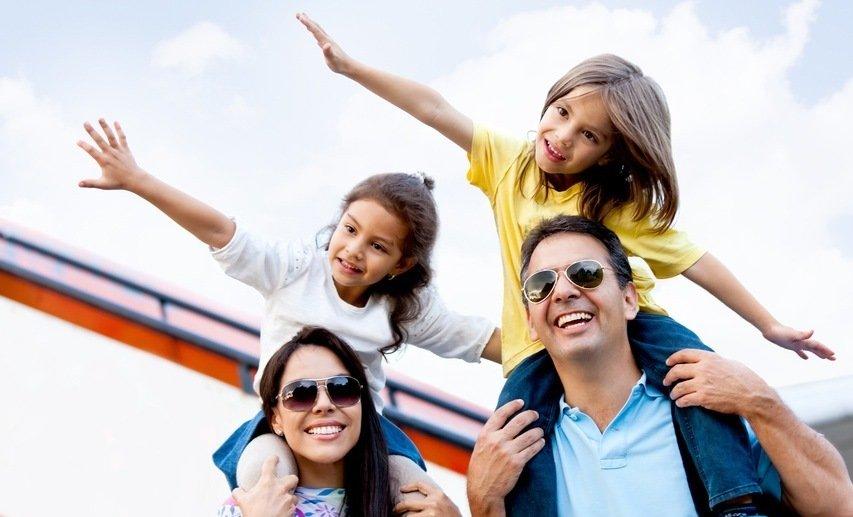 Туристическое путешествие семьей
