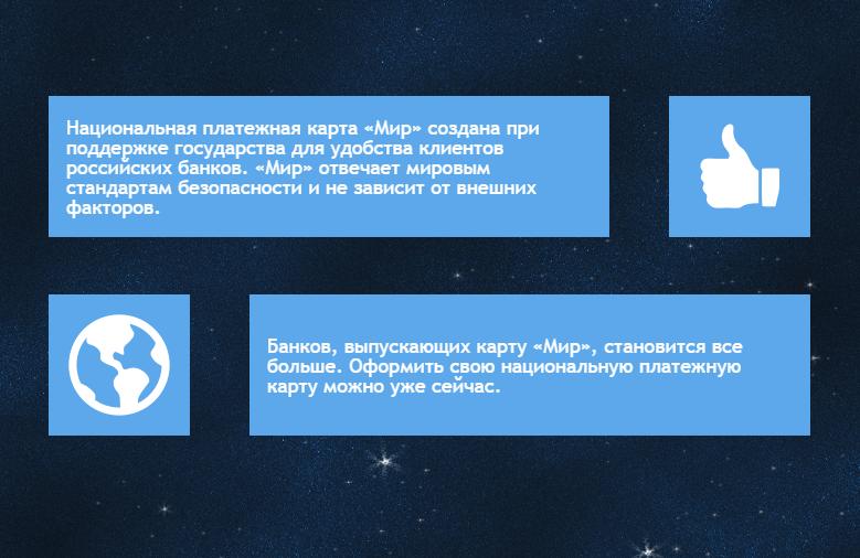 Карта Мир от Сбербанка России