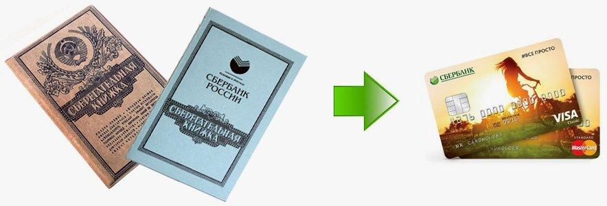 Перевод со сберкнижки на карту
